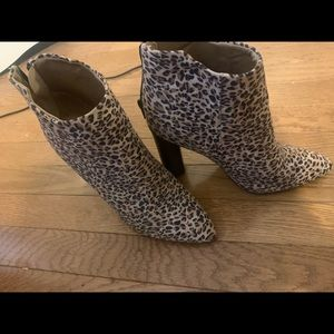 Cheetah heeled boots